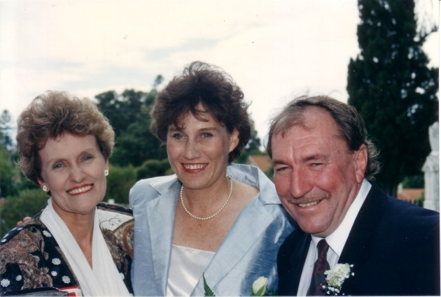 Anthony, Julie and her mother, Meg, on wedding day 1993